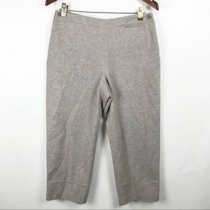 J Crew Gray Tan Wool Cashmere Ankle Pants